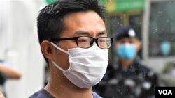黃浩銘表示,如果民陣被當局取締,他擔心公民社會將會變得更極端。 (美國之音湯惠芸)