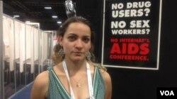 Анастасия Тепер на Международной конференции по ВИЧ/СПИДу в Вашингтоне