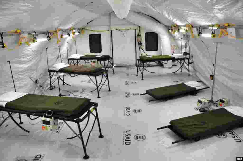 Inside the Ebola treatment facility specifically built for medical workers who become infected while caring for patients, before its opening, near Monrovia, Liberia, Nov. 4, 2014. (Sgt. 1st Class Nathan Hoskins/DOD).