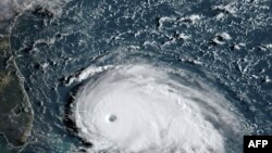 Tropik Dorian qasırğasının peyk vasitəsilə görünüşü, 1 sentyabr, 2019.