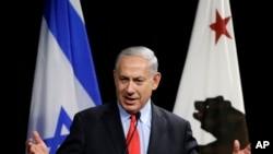 Thủ tướng Israel Benjamin Netanyahu nói chuyện ở Mountain View, California, 5/3/2014