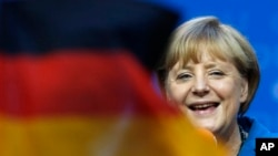 德國總理默克爾的保守黨聯盟在星期天的議會選舉中獲勝。