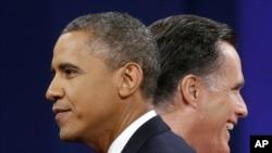 美国总统选举奥巴马和罗姆尼竞