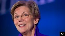 Thượng nghị sĩ đảng Dân chủ bang Massachusetts, bà Elizabeth Warren, phát biểu tại Hội nghị Chính sách hàng năm lần thứ hai của Trung tâm vì Sự tiến bộ của Người Mỹ ở Washington, 19/11/2014.