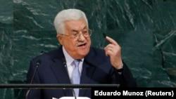 Le président palestinien Mahmoud Abbas à la 72e Assemblée générale de l'Onu à New York le 20 septembre 2017.