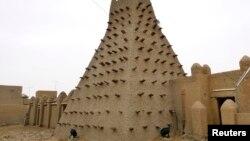 馬里古城廷巴克圖的一座土坯建築。