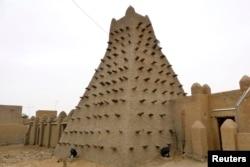 Um dos edificios da cidade de Timbuktu