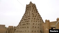 马里古城廷巴克图的一座土坯建筑。(2012年5月15日)(照片来源:路透社)