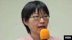 台湾人权促进会秘书长 蔡季勋(美国之音张永泰拍摄)