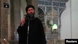 巴卡爾巴格達迪在清鎮寺講道的視頻截圖