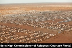 FILE - An image of the world's largest refugee camp, Dadaab, in northeastern Kenya, in 2012.