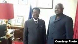 President Koroma with new VP Victor Foh