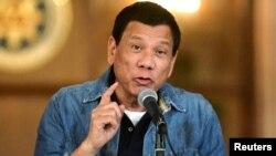 Tổng thống Philippines trong một lần phát biểu hồi tháng 1/2017