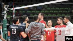 خبرگزاری فارس این عکس را از بازی والیبال ایران و لهستان منتشر کرد