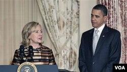Prezidan ameriken an Barack Obama ak Sekretè Deta Hillary Rodham Clinton (foto achiv)