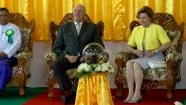 ျမန္မာျပည္ကို အလည္အပတ္ေရာက္ရွိေနတဲ့ ေနာ္ေဝးဘုရင္ Harald ေနာ္ေဝးဘုရင္မ Sonja။