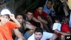 Iranian asylum seekers were caught in Indonesian waters while sailing to Australia.