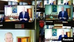 2013年7月3日比利時電視上的國王阿爾貝二世