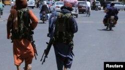 Taliban insurgents in Kabul