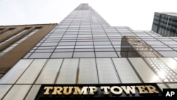 FILE - The multipurpose, 68-story Trump Tower, located on New York's Fifth Avenue, now serves as campaign headquarters for GOP presidential candidate Donald Trump.