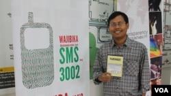 Ketua Aliansi Jurnalis Independen (AJI) Jakarta, Umar Idris (VOA/Andylala)