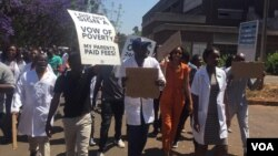 Striking doctors in Zimbabwe