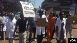Striking doctors in Zimbabwe