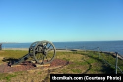 A lone cannon symbolizes the fierce battle that took place on April 12, 1861, when Confederate artillery opened fire on this federal fort in Charleston Harbor, South Carolina, marking it as the day the Civil War began.