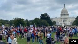 تجمعکنندگان روز شنبه ۱۸ سپتامبر ۲۰۲۱