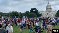 Manifestasyon J6 nan Washington, Samdi 18 Sept. 2021. (Foto: Iacopo Luzi / VOA Spanish)