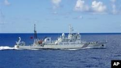 Hình của tuần duyên Nhật Bản cung cấp cho thấy tàu hải giám Trung Quốc Haijian số 27 gần quần đảo có tranh chấp