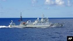 지난 9월 일본과 중국의 분쟁 해역에 진입한 중국 해안 감시선.