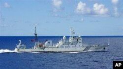 Tàu thăm dò của Trung Quốc gần quần đảo Ðiếu Ngư/Senkaku.