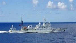 Một tàu hải giám của Trung Quốc trong vùng biển Hoa Ðông.