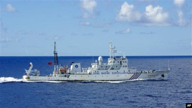 Tàu hải giám của Trung Quốc Haijian số 27 tuần tra gần quần đảo đang trong vòng tranh chấp Senkaku/Ðiếu Ngư.
