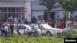 Vụ nổ xảy ra ở một trường mẫu giáo, thành phố Từ Châu, Trung Quốc, ngày 16/6/2017.