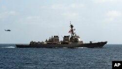 지난달 10일 오만 걸프에서 훈련 중인 미 구축함. (자료사진)