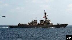 Kapal perang AS yang ditempatkan di Laut Merah, 'USS Mason' (foto: dok).