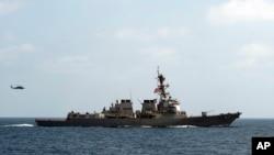 美國海軍驅逐艦梅森號 ( 資料照片)
