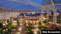 Vista interior del Gayloar Opryland Resort and Convention Center en Nashville.