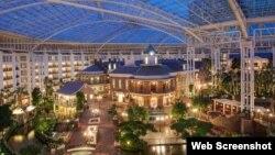 Vista interior del Gayloar Opryland Resort and Convention Center en Nashville.