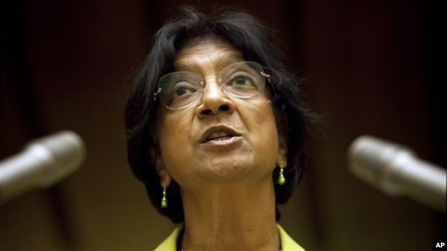 FILE - U.N. High Commissioner for Human Rights Navi Pillay