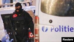지난 20일 벨기에 수도 브뤼셀에서 경찰 특수부대원들이 순찰하고 있다. (자료사진)