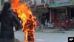 藏人自焚(資料圖片)