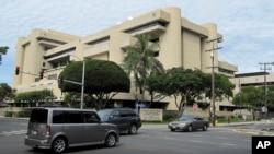 夏威夷首府火奴鲁鲁美国地区法院所在的联邦大楼(资料照片)