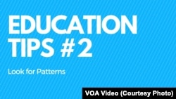 Education Tips 2 Look for Patterns