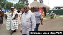 Le ministre camerounais de l'économie et de la planification, Louis Paul Motaze, à Yaoundé, le 3 août 2017. (VOA/Emmanuel Jules Ntap)