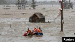 Hình ảnh ngập lụt tại tỉnh Hà Tĩnh năm 2017. [Ảnh minh họa]