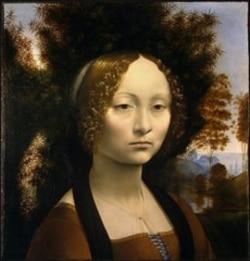 "Leonardo's first known portrait ""Ginevra de'Benci"""