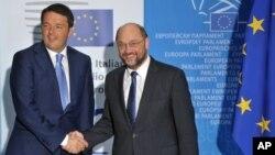 Italijanski premijer Mateo Renci i predsednik Evropskog parlamenta Martin Šulc